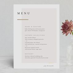 """""""Clean and Modern"""" – Customizable Foil-pressed Menus in Beige, Gold or Gray by Kelly Schmidt. """"Clean and Modern"""" – Customizable Foil-pressed Menus in Beige, Gold or Gray by Kelly Schmidt.,Layout for Print Foil-Pressed Menus. Decoration Restaurant, Deco Restaurant, Restaurant Menu Design, Restaurant Identity, Cafe Menu Design, Layout Design, Flugblatt Design, Wedding Stationary, Wedding Invitations"""