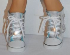 silver boots  that fits AMERICAN GIRL dOLLS
