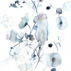 The Flower Poster is made from a original watercolor artwork by Toril Bækmark. Abstract Watercolor, Watercolor Illustration, Watercolor Flowers, Watercolor Paintings, Art Bin, Flower Graphic Design, Tinta China, Botanical Art, Painting Inspiration