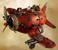 The Artist of War: Ork Dakkajet Conversion from Hasegawa Egg plane