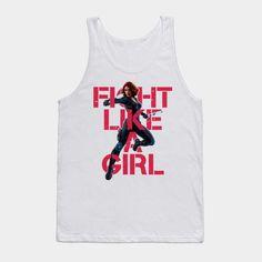 Black Widow - Fight Like A Girl - Mens Tank Top