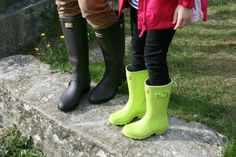 Hunter Belsize boots and Kids' Original Glow boots. Hunter Day, Day Glow, Hunter Rain Boots, Wellington Boot, Kids Fashion, Nordstrom, Classy, Casual, Dark