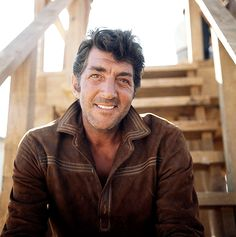 Dino, months after his 50th birthday circa October 1967, is rather cheerful as outlaw Dee Bishop, hanging out on the steps of the gallows between takes of Bandolero; directed by Andrew V. McLaglen, the Western costarred Jimmy Stewart as elder brother Mace