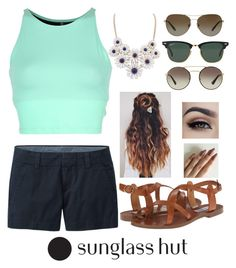 """Shades of You: Sunglass Hut Contest Entry"" by kiirstennnnn ❤ liked on Polyvore featuring Onzie, Uniqlo, Steve Madden, Ray-Ban, Prada, Tiffany & Co. and shadesofyou"