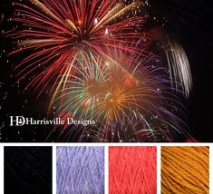Happy 4th of July! Fireworks color palette Harrisville Designs yarn: Black, Chicory, Zinnia, and Gold.