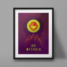 Retro Sci-Fi-style tribute to the great Metroid series.   Printed on natural white matte paper with ultrachrome archival inks, this art print is ready for framing and is shipped in a protective tube.  *frame not included  For more artwork please visit my shop ------------------------------------ jefflangevin.etsy.com