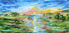 Glory in the Sky palette knife oil paint impressionism and