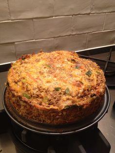 Pittige gehakttaart uit kookboek 2: http://gripopkoolhydraten.nl/webshop/grip-op-koolhydraten-kookboek-2//