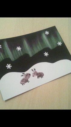 Diy Christmas Cards, Christmas Time, Christmas Crafts, Diy And Crafts, Crafts For Kids, Arts And Crafts, Art Connection, Arts Ed, Winter Art