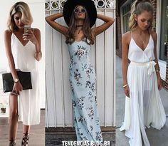 Vestidos Verão 2017 Slip Dress