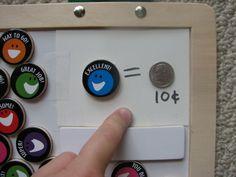 Cute way to teach kids about money
