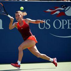 1st #USOpen Quarterfinal!Simona Halep battles past Lisicki 6-7(6), 7-5, 6-2! Sets #USOpen Quarterfinal vs Azarenka!