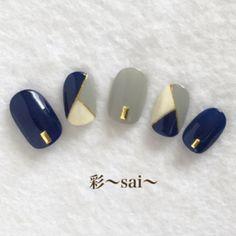 ネイル ネイル in 2020 Classy Acrylic Nails, Classy Nails, Simple Nails, Classy Nail Designs, Red Nail Designs, Aloha Nails, Pale Nails, Nail Art Strass, Korean Nails