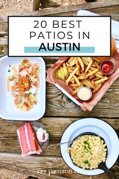 Map included! 20 gorgeous Austin patios to enjoy this beautiful year-round sunshine. #austintexas #Austin #austinfood