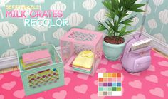 ♡ Berry-Pixels ♡, DreamTeamSims Milk Crates Recolor ♡ I finally. The Sims 4 Pack, Sims 4 Cc Packs, Sims 4 Mm Cc, Sims Four, My Sims, Sims 4 Game Mods, Sims 4 Mods, Sims 4 Cc Furniture, Crate Furniture