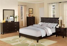 Brothers Fine Furniture WB100 King Size Bed with Dresser & Mirror