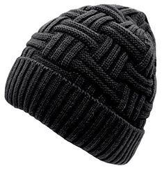 Loritta Men's Winter Knitting Skull Cap Wool Warm Slouchy Beanie Hat About the product – Color: As showned. Photos are taken under bright sunlight, colors may look darker indoors. – Criss-cross basket weave knit style. – Material: Thermal spun acrylic, artificial wool inner. – One size fits most. It can be stretched and suitable for most men. – Various colors can be chose: classic black, navy blue, deep grey, wine red, warm coffee. – It is