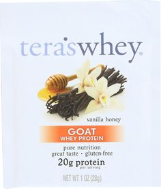 Teras Whey Protein Powder - Whey Protein - Goat - Vanilla Honey - 1 Oz - Case Of 12 Protein Power, Protein Blend, Whey Protein Powder, Protein Nutrition, Sports Nutrition, Taste Buds, 1 Oz, Goats, Vanilla