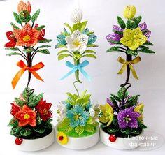Деревья и цветы из Бисера