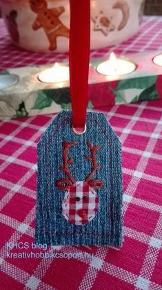 Ajándékkísérők a rongyoszsákból  Ajándékkísérő farmermaradékből Remélhetőleg már mindenki beszerezte vagy elkészítette az összes karácsonyi ajándékot, és már csak a csomagolás van hátra. Én évek óta mindig valami új ajándékkísérőt találok ki, amivel átalában sikerül megörvendeztetnem a családtagjaimat. Az itt Minion, Christmas Ornaments, Holiday Decor, Christmas Jewelry, Minions, Christmas Decorations, Christmas Decor