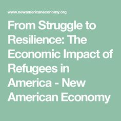 From Struggle to Resilience: The Economic Impact of Refugees in America - New American Economy