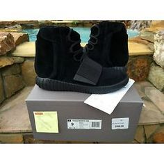 1d7462aeecbee Adidas Yeezy 750 Boost Triple Black DS Size 9 100% Authentic