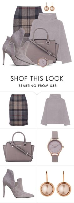"""""""Untitled #1348"""" by carla-palmisano-50 ❤ liked on Polyvore featuring Barbour, 360 Sweater, MICHAEL Michael Kors, Olivia Burton, Kendall + Kylie and Dyrberg/Kern"""