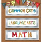 This cute and colorful set includes all of the Common Core Standards for Second Grade and contains over 110 math and language arts standards