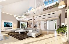 Rezydencja Parkowa 3 on Behance Home Design Floor Plans, My House Plans, Concrete Wall, Luxury Homes, Cool Designs, Construction, House Design, Mansions, Interior Design