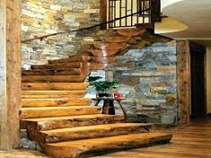 We love rustic luxury homes photos) - forest rustic outdoor nature mountain log cabin house cott Rustic Staircase, Staircase Design, Staircase Ideas, Spiral Staircase, Railing Ideas, Rustic Bathroom Designs, Rustic Cabin Bathroom, Log Cabin Bathrooms, Log Cabin Homes