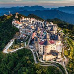 """A resort and entertainment complex locates 1,500m above sea level, right next to Vietnam's most popular destination of 2018 - the Golden Bridge. This was once a French resort and mountain retreat in 1920s, boasting over 200 villas, restaurants and clubs during its most vigorous days. Bà Nà Hills is now the locals' favorite tourist spot, dubbed the """"Dalat of Da Nang City"""" due to its romantic vibe and mild weather Beautiful Vietnam, Tourist Spots, Ho Chi Minh City, Da Nang, Vietnam Travel, Walking Tour, The Locals, River Island, Monument Valley"""