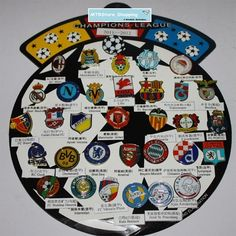 32 Teams Metal Pin Badge Brooches for European Champions League