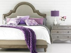 63 Creative Ways Grey Bedroom With Pop Of Color Purple Lavender 88 # Cozy Bedroom, Dream Bedroom, Bedroom Decor, Bedroom Ideas, Feminine Bedroom, Bedroom Table, White Bedroom, Bedroom Colors, Bedroom Inspiration