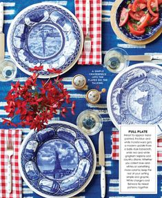 4th Of July Celebration, Fourth Of July, Blue Table Settings, Place Settings, Vase Transparent, Fabulous Four, Vase Design, 4th Of July Decorations, Holiday Decorations