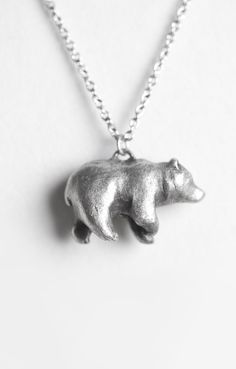 Bear totem necklace // on sale through 10/11/13 at www.leanimale.com --- I actually have one of these and love it.