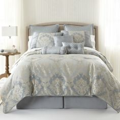Home Expressions™ Candace 7-pc. Jacquard Comforter Set & Accessories  found at @JCPenney   -  bedding, linen.     lj
