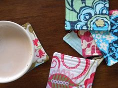 Easy Sewing Projects to Sell - DIY Quilted Coasters - DIY Sewing Ideas for Your Craft Business. Make Money with these Simple Gift Ideas, Free Patterns, Products from Fabric Scraps, Cute Kids Tutorials http://diyjoy.com/sewing-crafts-to-make-and-sell