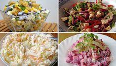 Fantastické recepty na saláty, které pomohou každému, kdo má ambici zhubnout. Nezapomeňte, že všechny nezdravé suroviny jako například tatarská omáčka, majonéza, případně pokud má pro Vás mnoho kalorií i zakysaná smetana, můžete vyměnit za bílý nízkotučný jogurt. Saláty jsou skvělá volba při hubnutí. Zasytí, jsou rychle připraveny a můžete je připravit na milión způsobů. Oreo Cupcakes, Food Inspiration, Potato Salad, Cucumber, Salads, Food And Drink, Menu, Vegetarian, Tasty