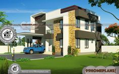 Ready Made House Plans Indian Style Plan Double Storey House Free House Design, 2 Storey House Design, House Front Design, Kerala Traditional House, Traditional Style Homes, Traditional House Plans, Free House Plans, Simple House Plans, Modern House Plans