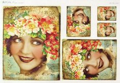Ricepaper / Decoupage paper, Scrapbooking Sheet Old Pictures Beautiful Lady 2