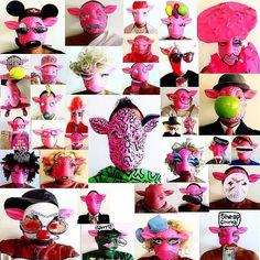 Fun Friday SHEEP Selfeee's: A Year in Selfeee's! #funfriday #selfeee #sheep #pinksheep #pink #fashion #dragqueen #keithharing #cindysherman #portrait #gay #drag #weho #madonna #punk #joy #losangelesartist #streetartist #artist #saatchi #inspired #oddball  #mickeymouse #surrealism by littlericky001