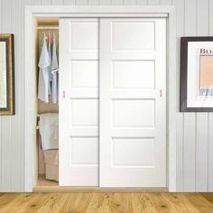 Bespoke Thruslide Severo White 2 Door Wardrobe and Frame Kit - Prefinished - Lifestyle Image. Modern Sliding Doors, Sliding Wardrobe Doors, 2 Door Wardrobe, Diy Wardrobe, Wardrobe Ideas, Sliding Door Window Treatments, Door Design Interior, Design Interiors, Wardrobe Door Designs