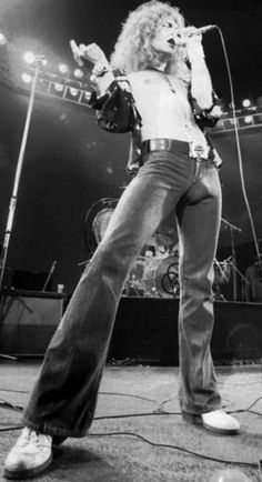 70's Robert Plant. His pants are obscene wow................ hahahahahahaha love it!