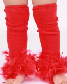 READY TO SHIP: Leg Warmers - Red Feather - Paradise Parrot - Scarlett Macaw Bird Costume Accessory - One Size