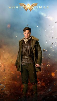 Steve Trevor (Chris Pine) - Wonder Woman my precious lil' babeee Dc Movies, Good Movies, Goodbye Brother, Superman, Batman, Gal Gadot Wonder Woman, Wonder Woman Movie, Women Poster, Chef D Oeuvre