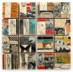 I love this!!!!!!!! Envy! Sushipot has been a fav of mine since the beginning of Etsy. | Sushipot: New Collage Blocks