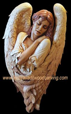 Angel-religious-relief-wood-carving-by-Fred-Zavadil – Woodcarving and Sculpting by Fred Zavadil