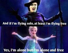 There are so many parallels between the Wicked storyline and Frozen's. I love it!