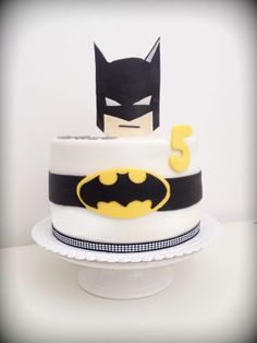 Simple batman birthday cake