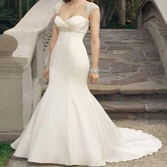 Elegant Rhinestone High Waist White Jersey Wedding Party Dresses, Bridal Gown, WD0114